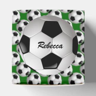 Balón de fútbol personalizado en modelo del fútbol cajas para regalos de fiestas