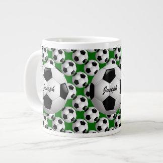 Balón de fútbol personalizado en modelo del fútbol taza grande
