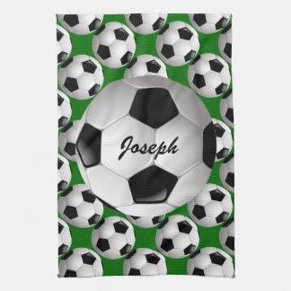 Balón de fútbol personalizado en modelo del fútbol toallas de cocina