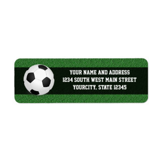 Balón de fútbol personalizado etiqueta de remite