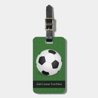 Balón de fútbol personalizado etiqueta de equipaje