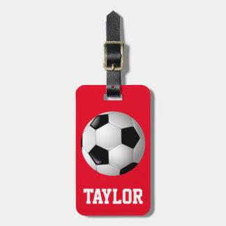 Balón de fútbol personalizado etiquetas para maletas