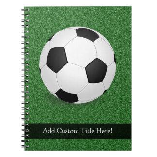 Balón de fútbol personalizado libros de apuntes con espiral