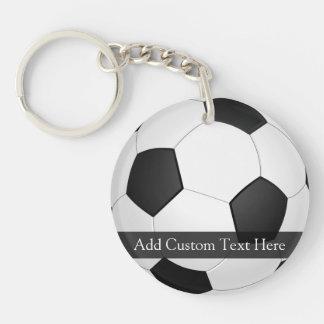 Balón de fútbol personalizado llavero redondo acrílico a doble cara