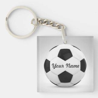 Balón de fútbol personalizado para las ocasiones llavero cuadrado acrílico a una cara