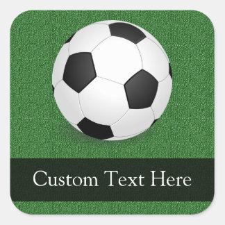 Balón de fútbol personalizado colcomanias cuadradass