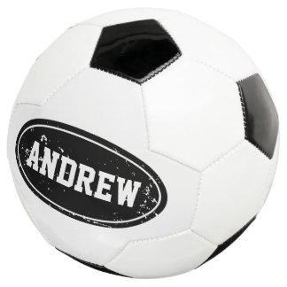 Balón de fútbol personalizado vintage con nombre