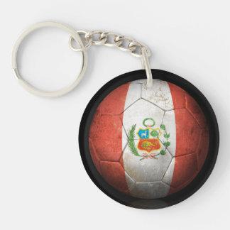 Balón de fútbol peruano gastado de fútbol de bande llavero
