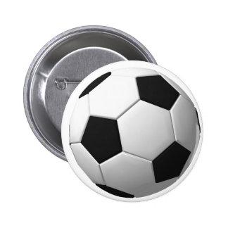 Balón de fútbol: pin redondo 5 cm