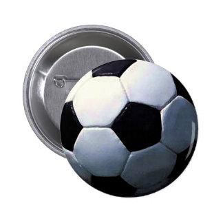 Balón de fútbol pin redondo de 2 pulgadas