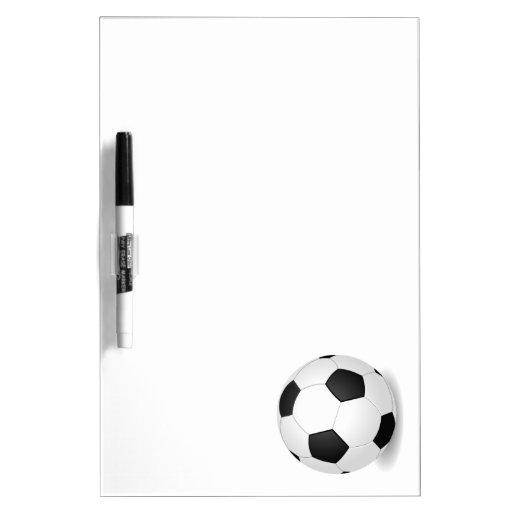 Balón de fútbol pizarra blanca