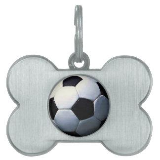 Balón de fútbol placa de mascota