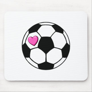 Balón de fútbol (Pnk Hrt) Alfombrillas De Ratones