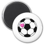 Balón de fútbol (Pnk Hrt) Imanes