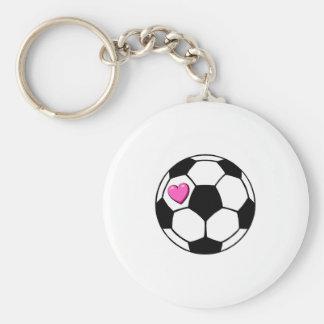 Balón de fútbol (Pnk Hrt) Llaveros