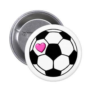 Balón de fútbol (Pnk Hrt) Pin