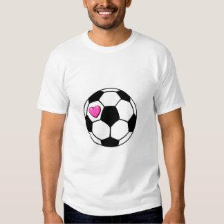 Balón de fútbol (Pnk Hrt) Playeras
