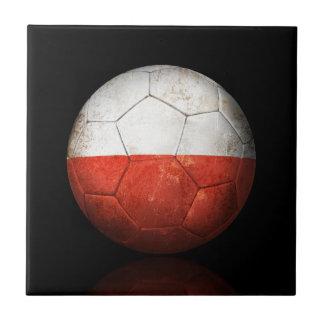 Balón de fútbol polaco gastado de fútbol de bander teja  ceramica