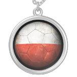 Balón de fútbol polaco gastado de fútbol de bander colgante personalizado