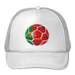 Balón de fútbol portugués de la bandera para las c gorro