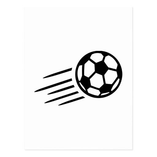 Balón de fútbol postal