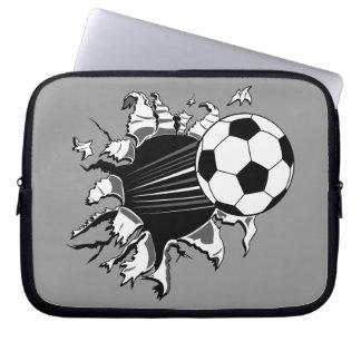 Balón de fútbol que revienta hacia fuera fundas computadoras