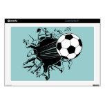 Balón de fútbol que revienta hacia fuera calcomanías para portátiles