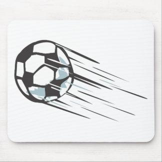 Balón de fútbol rápido rápido fresco con arrastrar tapete de ratón