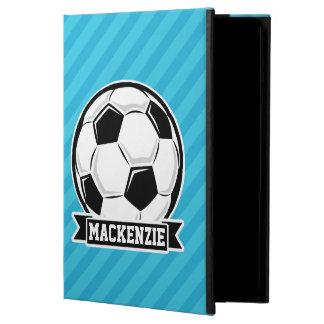 Balón de fútbol; Rayas azules de cielo