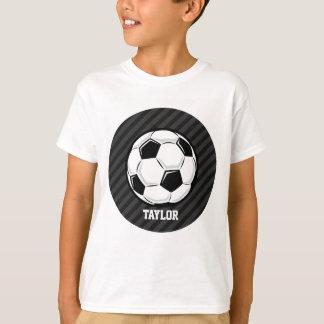 Balón de fútbol; Rayas negras y gris oscuro Camisas