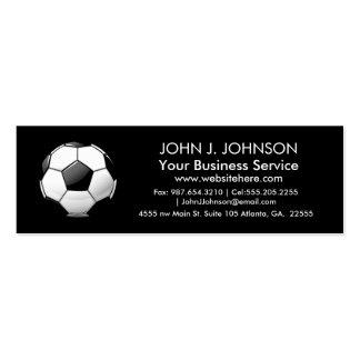 Balón de fútbol redondo brillante tarjetas de visita mini