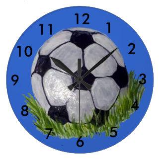 Balón de fútbol reloj redondo grande