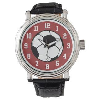 Balón de fútbol relojes de pulsera