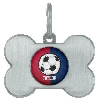 Balón de fútbol; Rojo, blanco, y azul Placa Mascota