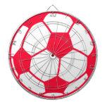 Balón de fútbol rojo del escarlata tabla dardos