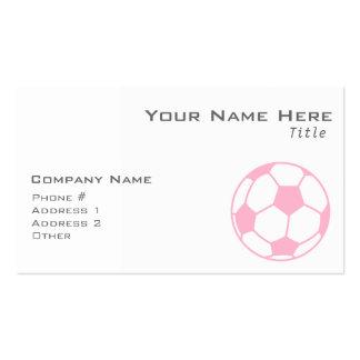 Balón de fútbol rosa claro tarjetas de visita