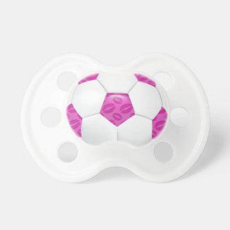 Balón de fútbol rosado de los labios chupete