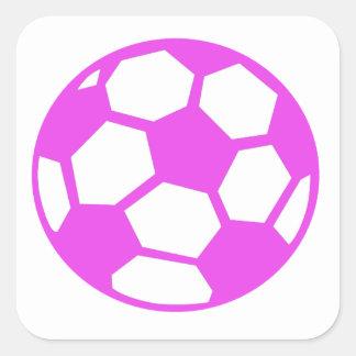 Balón de fútbol rosado etiqueta