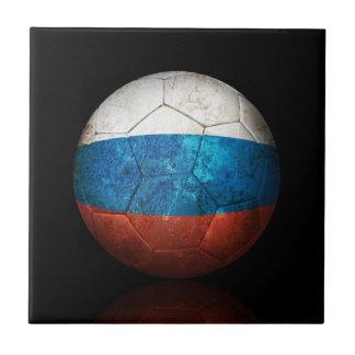 Balón de fútbol ruso gastado de fútbol de bandera tejas  ceramicas
