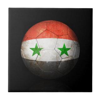 Balón de fútbol sirio gastado de fútbol de bandera azulejo ceramica