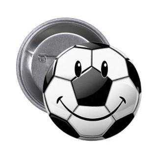 Balón de fútbol sonriente brillante de Toon Chapa Redonda 5 Cm