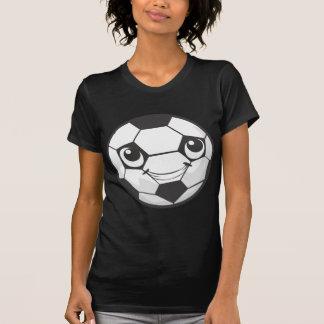 Balón de fútbol sonriente feliz de encargo camiseta
