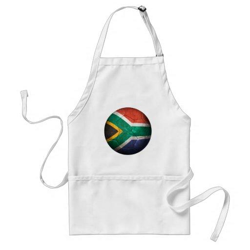 Balón de fútbol surafricano gastado de fútbol de b delantal