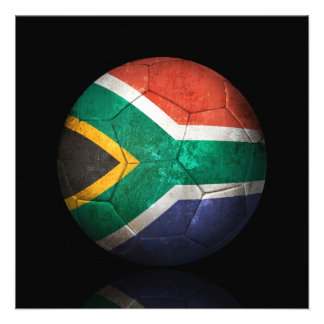 Balón de fútbol surafricano gastado de fútbol de b invitaciones personalizada