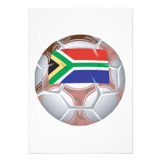 Balón de fútbol surafricano invitaciones personalizada