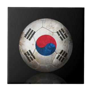 Balón de fútbol surcoreano gastado de fútbol de ba teja