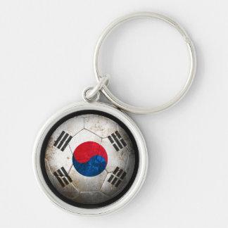 Balón de fútbol surcoreano gastado de fútbol de ba llavero personalizado