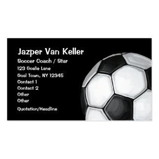 Balón de fútbol plantillas de tarjetas de visita
