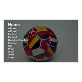 Balón de fútbol plantilla de tarjeta de visita