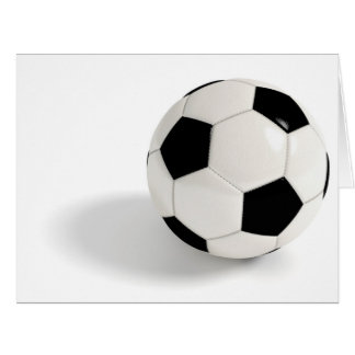 Balón de fútbol tarjeta de felicitación grande